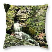 The Mystery Waterfall Throw Pillow