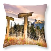 The Names Of The Mountains Throw Pillow