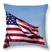The National Colors And Official Colors Throw Pillow