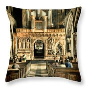 The Nave At St Davids Cathedral 2 Throw Pillow