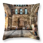 The Nave At St Davids Cathedral 5 Throw Pillow