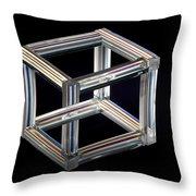 The Necker Cube Throw Pillow