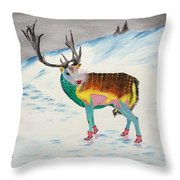 The New Rudolph Throw Pillow