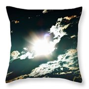 The Night Of The Eclipse Throw Pillow