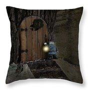 The Nightstalking Elf Throw Pillow