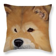 The Noble Chow Throw Pillow