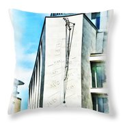 The Noon Sundial At The London Stock Exchange Throw Pillow