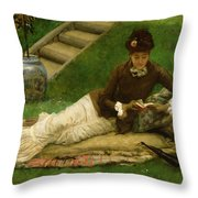 The Novel Throw Pillow by Frank Dicey