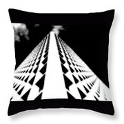 The Office Building Bw Throw Pillow