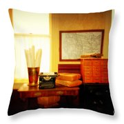 The Office Old Tuscon Arizona Throw Pillow by Susanne Van Hulst