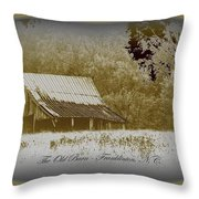 The Old Barn - Franklinton N.c. Throw Pillow