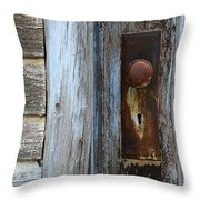 The Old Blue Door Throw Pillow