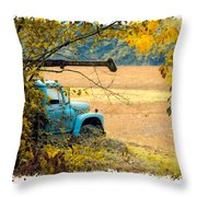 The Old Boom Truck Throw Pillow