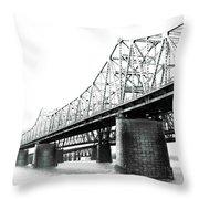 The Old Bridges At Memphis Throw Pillow