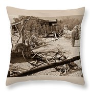 The Old Bygone West Throw Pillow