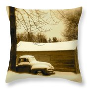 The Old Chevy Throw Pillow