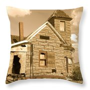 The Old Church At Shellpile  Throw Pillow