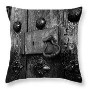 The Old Church Door Throw Pillow
