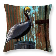 The Old Dock Throw Pillow