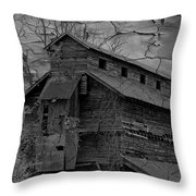 The Old Douglassville Hotel Throw Pillow