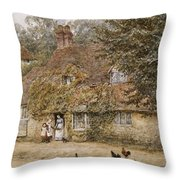 The Old Fish Shop Haslemere Throw Pillow