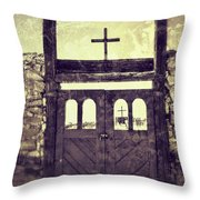 The Old Galisteo Cemetery Throw Pillow