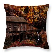 The Old Mill Stream Throw Pillow