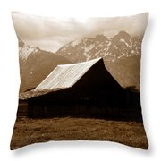 The Old Moulton Barn Throw Pillow