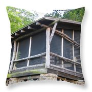 The Old Part Of The Cabin Throw Pillow