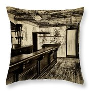 The Old Saloon Throw Pillow