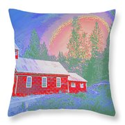 The Old Schoolhouse Library Throw Pillow