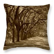 The Old South Series In Sepia Throw Pillow