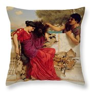 The Old Story Throw Pillow