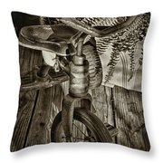 The Old Tricycle Throw Pillow