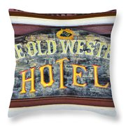 The Old Western Hotel Throw Pillow