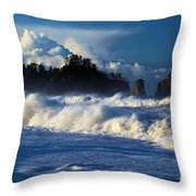 The Olympic Blues Throw Pillow
