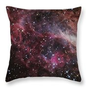 The Omega Nebula Throw Pillow
