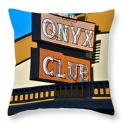 The Onyx Club Throw Pillow