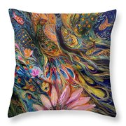 The Orange Wind Can Be Purchased Directly From Www.elenakotliarker.com Throw Pillow