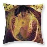 The Orchid Center Throw Pillow