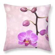 The Orchid Tree - Texture Throw Pillow