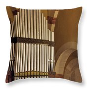 the Organ Augusta Victoria Jerusalem Throw Pillow