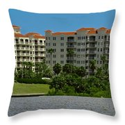 The Ormond Hotel Throw Pillow by DigiArt Diaries by Vicky B Fuller