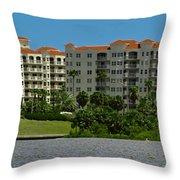 The Ormond Hotel Throw Pillow