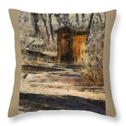 The Outhouse Throw Pillow