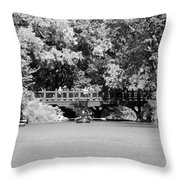 The Overhang In Black And White Throw Pillow