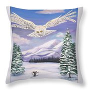 The Owl And The Rat Throw Pillow by Phyllis Kaltenbach