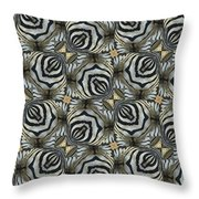 The Owl And The Zebra Throw Pillow