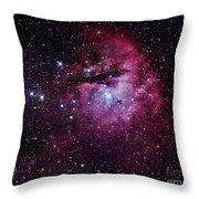 The Pacman Nebula Throw Pillow