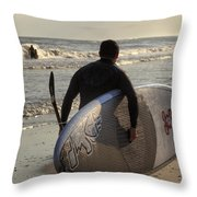 The Paddleboarder Throw Pillow